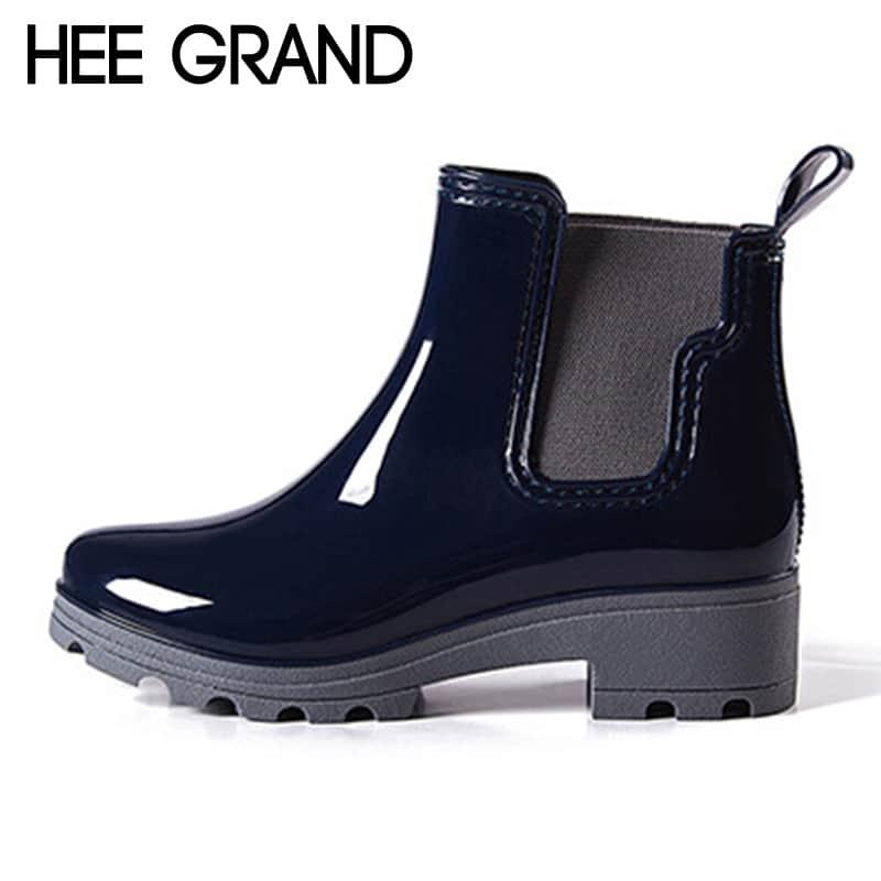 e2c815920 Купить Модные женские короткие резиновые сапоги-ботинки челси на ...