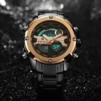Мужские армейские светодиодные наручные кварцевые аналоговые часы Naviforce