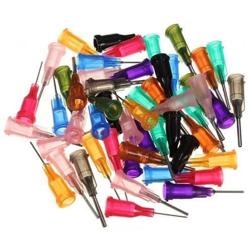 Набор шприцов с различными насадками-иглами (3 шприца + 50 насадок)