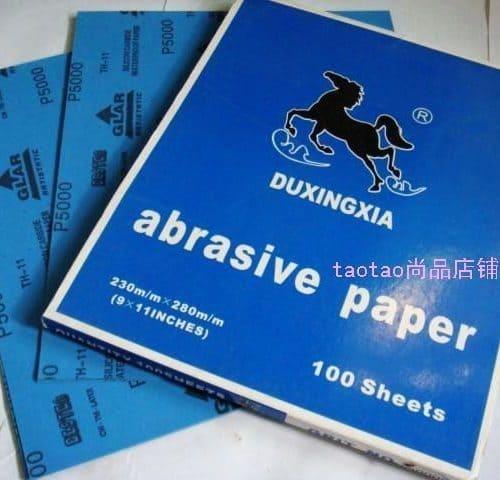 Набор ультрадисперсной наждачной бумаги, 5 шт.