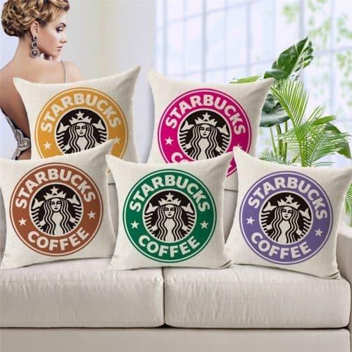 Наволочка на подушку 45х45 см Starbucks Coffee