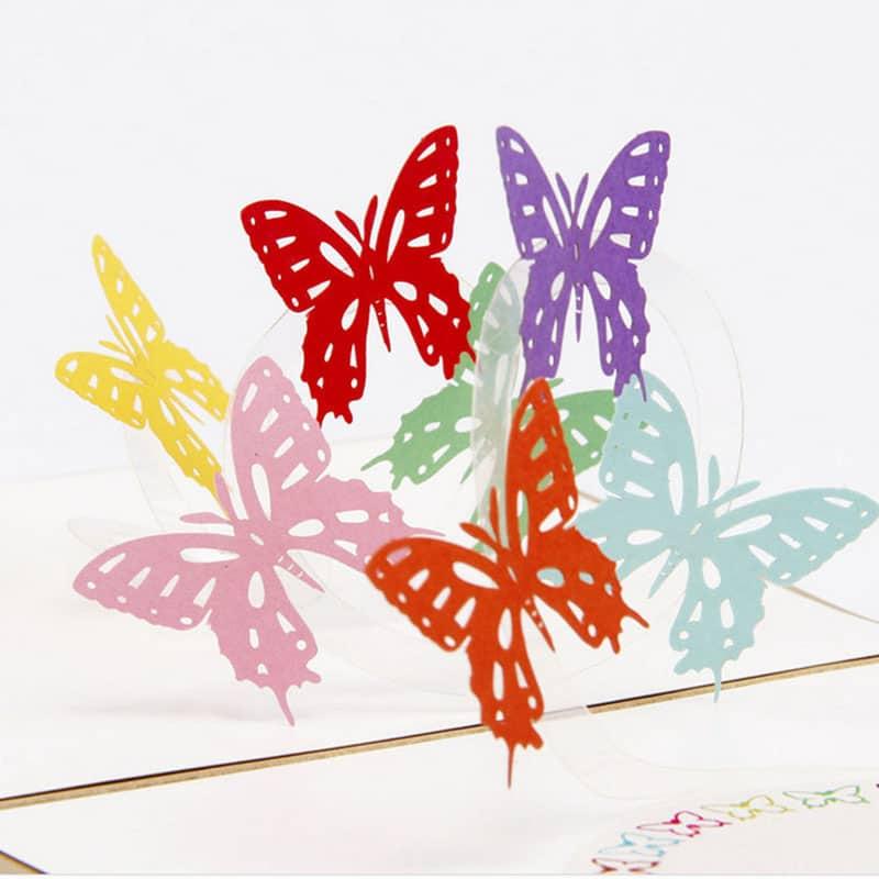 Ангела, объемная открытка с бабочками