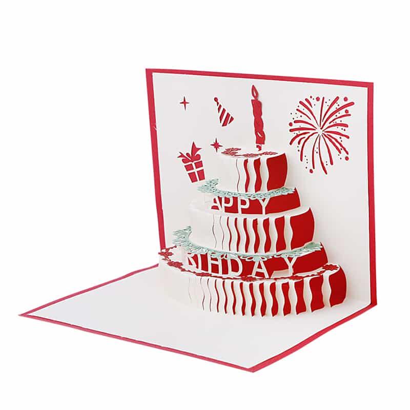 Объемная открытка с тортом внутри мастер класс