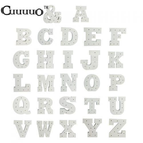 Объемные деревянные белые буквы ночник с подсветкой-светодиодами