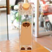 Пластиковая прозрачная бутылка 500 мл в виде пачки-коробки молока