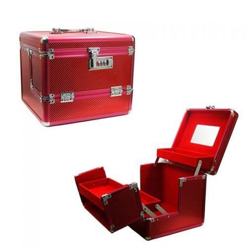 Профессиональный кейс-чемодан для хранения и переноски косметики и инструментов визажиста