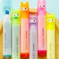 Разноцветные мини маркеры-выделители в наборе 6 шт.