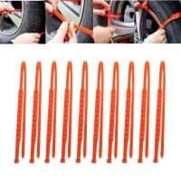 Ремни противоскольжения на колеса автомобиля