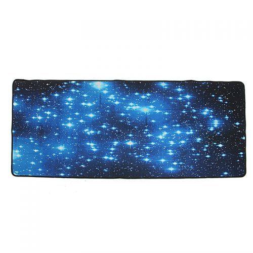 Резиновый коврик для компьютерной мыши с изображением звездного неба (900×400 мм)
