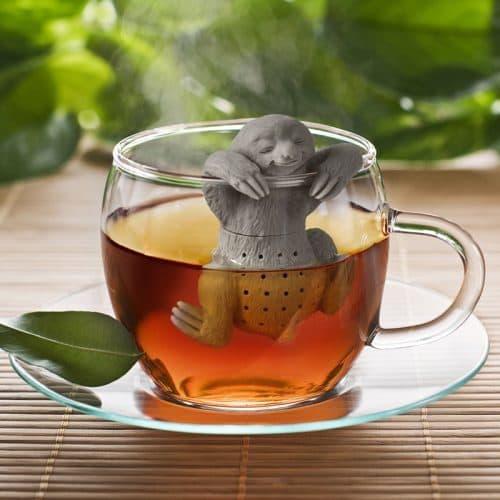 Силиконовый заварник для чая Ленивец
