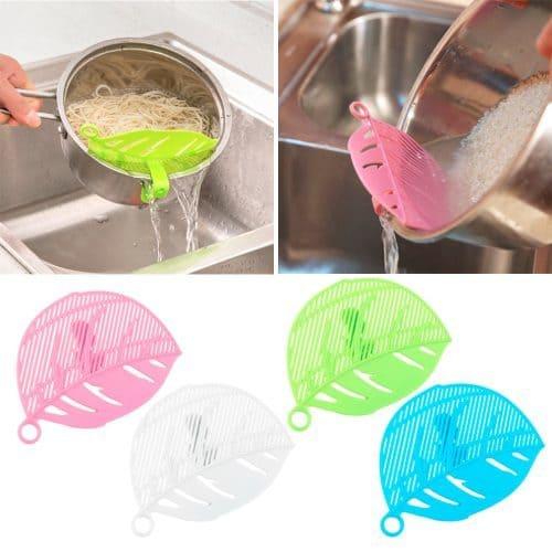 Сито кухонный инструмент для слива в виде листа