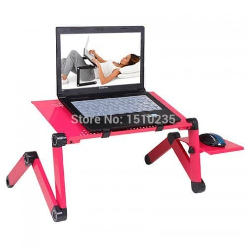 Складной удобный столик-трансформер для ноутбука с подставкой для мыши