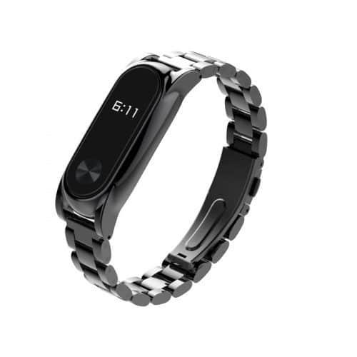 Стальной металлический браслет ремешок для Xiaomi Mi Band 2
