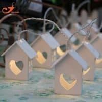 Светодиодная гирлянда с домиками (165 см, 10 лампочек/домиков)