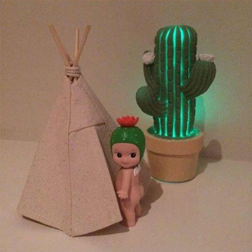 Светодиодный ночник кактус