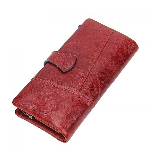 Женский большой и маленький кошелек бумажник из натуральной кожи для монет, купюр и карт