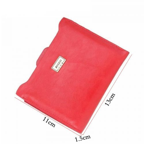 Женский маленький кошелек бумажник держатель карт из искусственной кожи (длина 13 см)