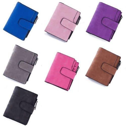 Женский маленький кошелек бумажник из искусственной кожи (длина 12 см)
