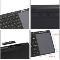 Zoweetek K12BT-1 ультра-тонкая беспроводная клавиатура с сенсорной панелью фс