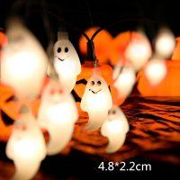Декоративная светодиодная гирлянда (тыквы/привидения/пауки/черепа/глаза/летучие мыши) для украшения на Хэллоуин