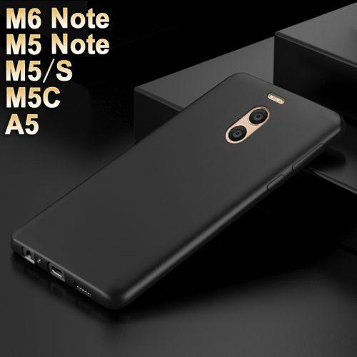 Силиконовый ультратонкий мягкий матовый чехол-бампер для Meizu M5 Note, M5C, M5S, M5, A5, M6 Note