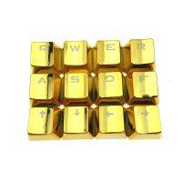 Металлические колпачки на клавиши клавиатуры (золотые, серебристые и синие)