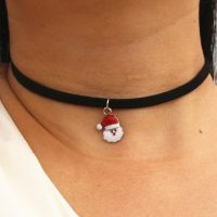 Черный чокер украшение ожерелье на шею с подвеской или без (19 вариантов на выбор)