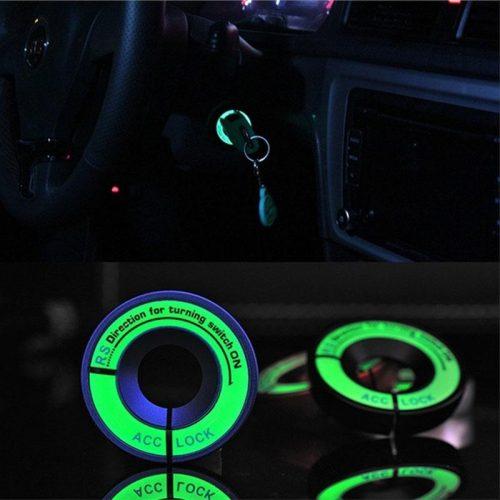 Светящийся в темноте стикер-подсветка на замок зажигания в автомобиль