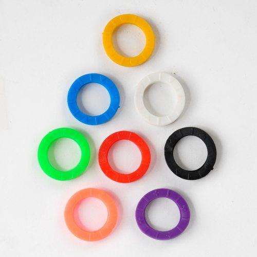 Силиконовые разноцветные чехлы-маркеры-накладки для ключей