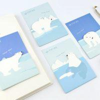 Канцелярские стикеры для заметок Белый медведь