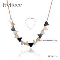 Цепочка-ожерелье на шею с подвесками-треугольниками