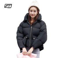 Женская демисезонная осенняя зимняя короткая стеганая утепленная куртка на молнии, с капюшоном, высоким воротником и большими карманами