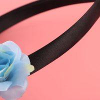 Ободок на голову с рогом единорога и цветами