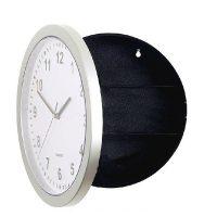 Настенные пластиковые часы-тайник-сейф
