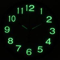 Кварцевые настенные часы светящиеся в темноте