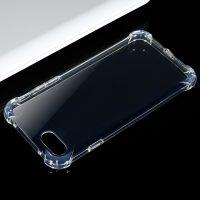Силиконовый противоударный прозрачный мягкий двусторонний чехол-обложка для iPhone (айфон) 7, 7 plus, 8, 8 plus, X