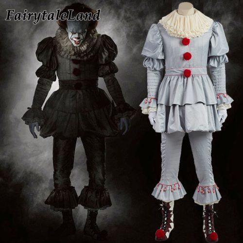 Взрослый костюм клоуна убийцы Пеннивайза из фильма Оно на Хэллоуин