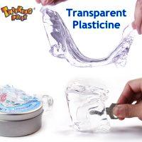 Прозрачный пластилин лизун игрушка