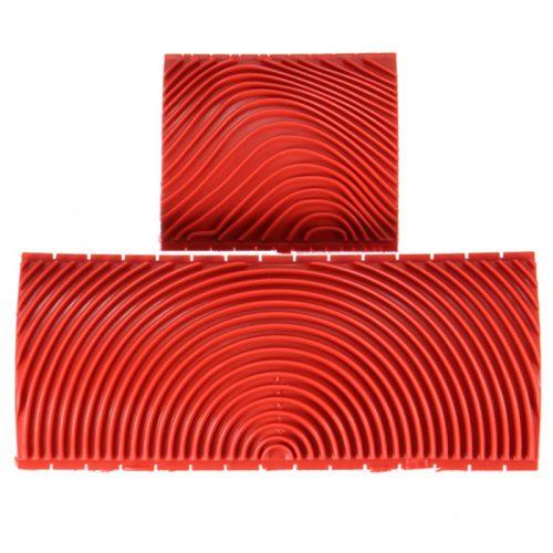 Резиновые шпатели инструменты для имитации текстуры дерева 2 шт.