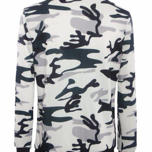 Женская демисезонная куртка-бомбер на молнии без капюшона с цветочным и милитари принтом