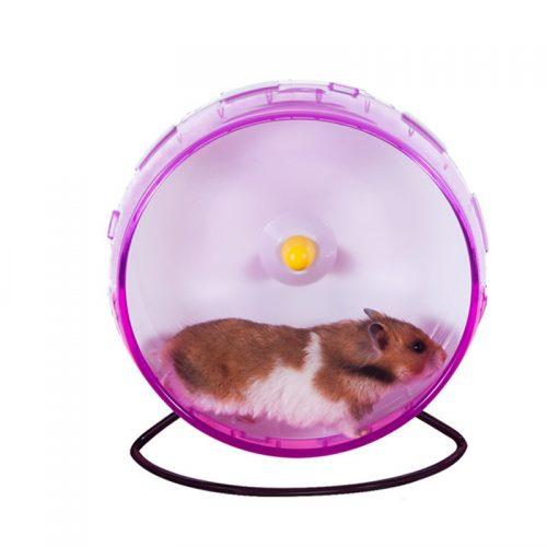 Беговое пластиковое колесо 21 см на подставке для грызунов в клетку