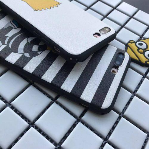 Чехол бампер задняя крышка для айфон (iPhone) 6,7 с Бартом Симпсоном