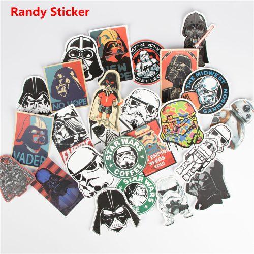 Канцелярские наклейки Звездные войны (Star Wars) 25 шт.