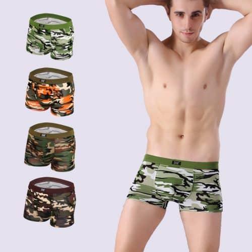 Комплект мужских камуфляжных трусов-боксеров