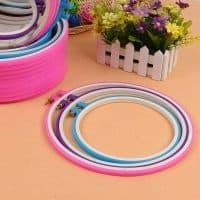 Круглые пластиковые пяльца-рамка для вышивания (5 размеров)