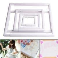 Квадратные пластиковые пяльца-рамка для вышивания (5 размеров)