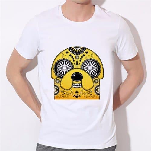 Мужская и женская белая футболка Время приключений (Adventure Time)