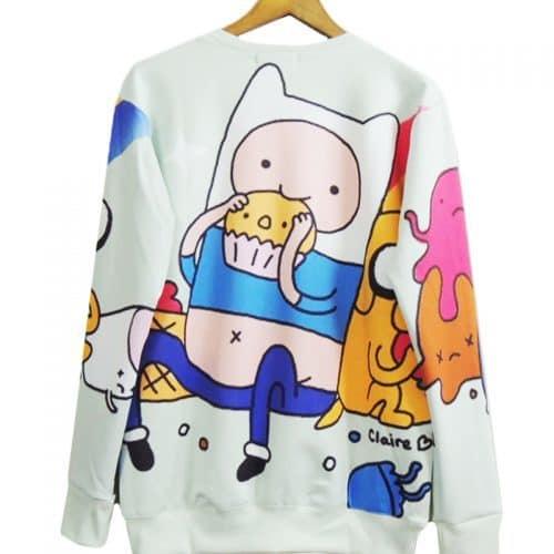 Мужской и женский свитшот толстовка Время приключений (Adventure Time)