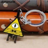 Ожерелье кулон подвеска на цепочке и брелок Билл Шифр желтый треугольник из Гравити Фолз (Gravity Falls)