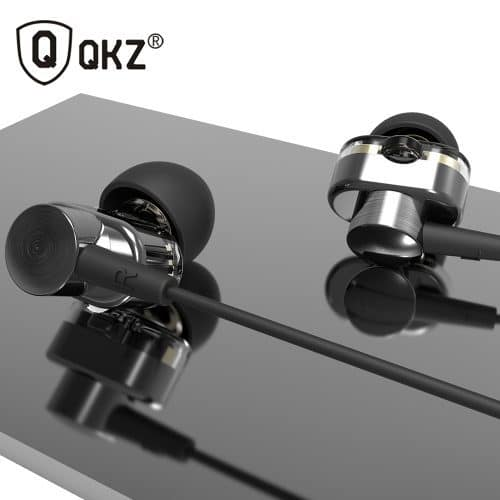 Qkz KD2 Hi-Fi наушники-гарнитура с двумя динамиками